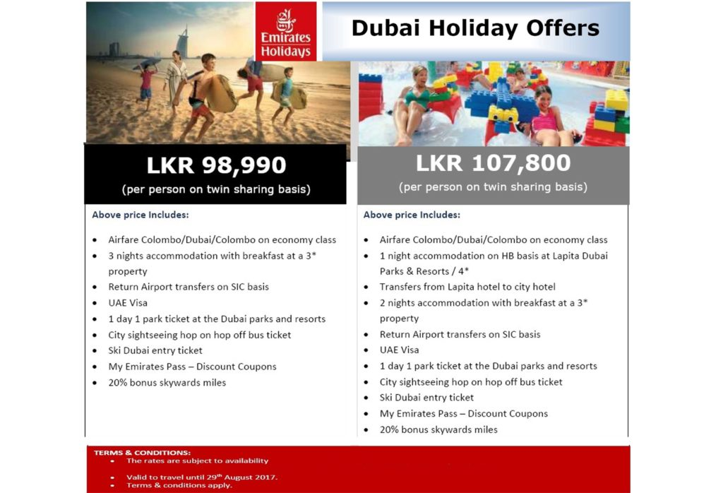 Dubai Holiday Offers with Emirates Holidays